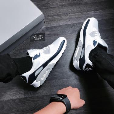 Hàng Chính Hãng Nike Air Max 90 White Grey Obsidian 2020**