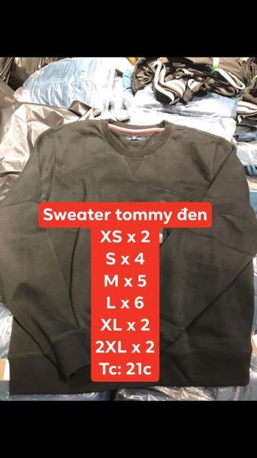 Hàng Chính Hãng Áo Sweater  Tommy Hilfiger BLack 2019**