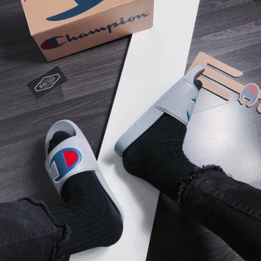 Hàng Chính Hãng Dép Champion  IPO Slide  Grey  2020**