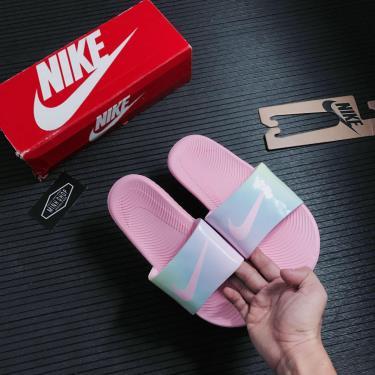 Hàng Chính Hãng Dép Nike Kawa Slide Holo Pink 2021**