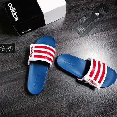 Hàng Chính Hãng Dép Adidas CF Slides Blue White Red **2020**