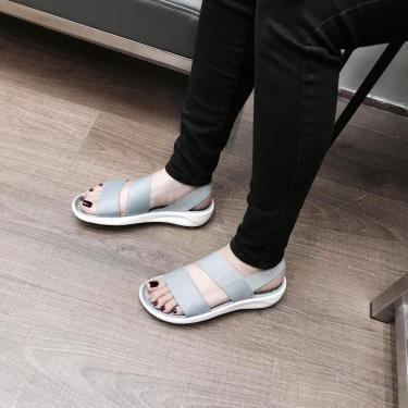 Hàng Chính Hãng  Sandal Crocs LiteRide Stretch Grey 2021**