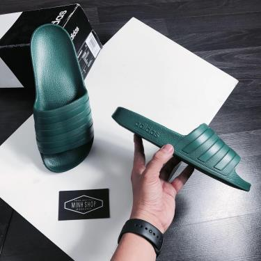 Hàng Chính Hãng Dép Adidas Adilette Aqua Slides Dark  Green **2020**