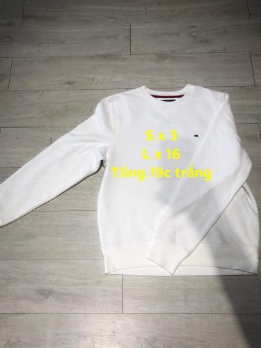 Hàng Chính Hãng Áo Sweater Tommy White 2019**