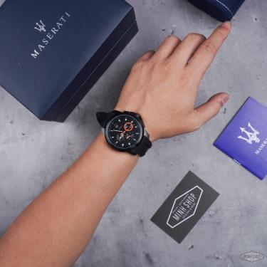Hàng Chính Hãng Maserati Sfida Chronograph Black Silicone Watch 2021**