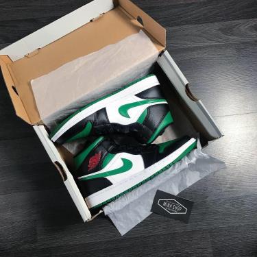 Hàng Chính Hãng Nike Air Jordan 1 Mid Black/Green  2020**
