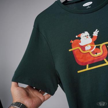 Hàng Chính Hãng Áo Thun Old Navy Christmas Stay Fly Green 2021**