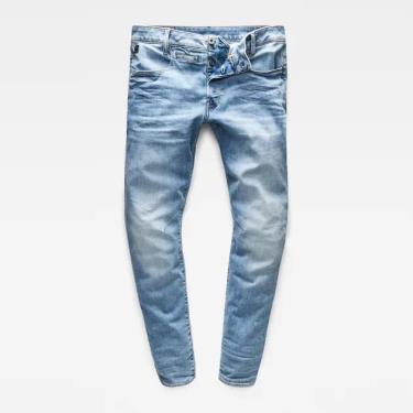 Hàng Chính Hãng Quần Jeans G-Star Raw D-Staq 5-Pocket Slim Jeans  Light Indigo Aged 2020**