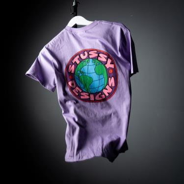 Hàng Chính Hãng Áo Thun Stussy Earth SS Tee Lavender 2021**