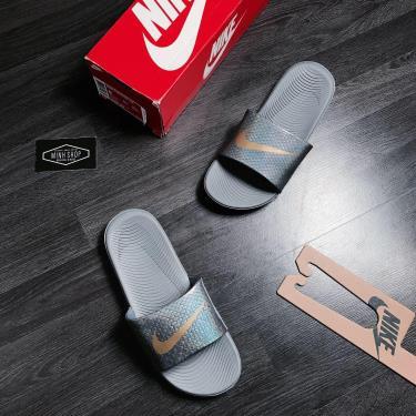Hàng Chính Hãng Nike Kawa Slide Dragon Grey/LOGO Gold 2019**