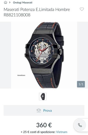 Hàng Chính Hãng Maserati Potenza Automatic Black Leather Strap Black/Red Limited Watch 2020**