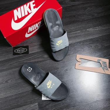 Hàng Chính Hãng Dép Nike Air Max Camden Grey/Green 2020**