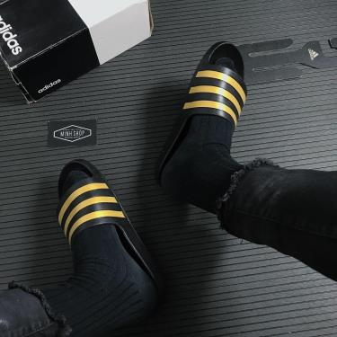 Adidas Dép Adilette Aqua Slides Black/Gold ** [EG1758]