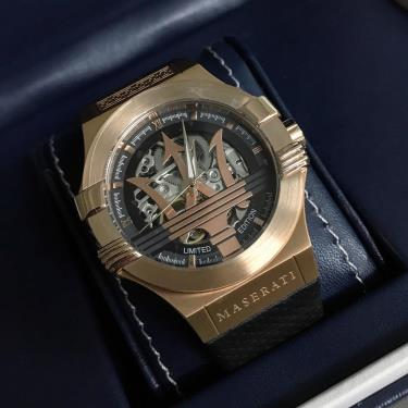 Hàng Chính Hãng MASERATI New Gold Hollowed Watch Limited 2019**