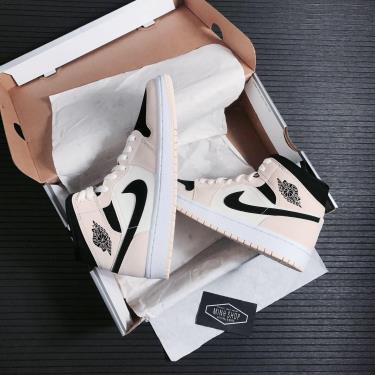 Giày Nike AirJordan 1 Mid Barely Orange [O]** [BQ6472 800]