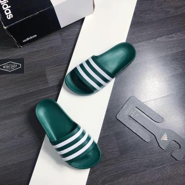 Hàng Chính Hãng Dép Adidas Adilette Aqua Slides  Green/White **2020**