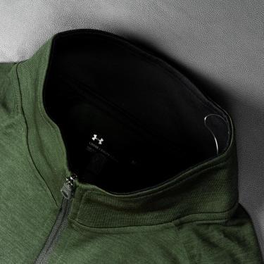 Hàng Chính Hãng Áo Thun Under Armour Tech 1/2 Zip Long Sleeve Dark Green 2020**