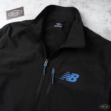 Hàng Chính Hãng Áo Khoác Jacket NewBalance Black/Blue LOGO 2021