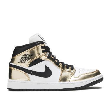 Hàng Chính Hãng Nike Jordan 1 Mid SE 'Metallic Gold' M 2021**