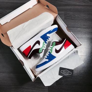 """Hàng Chính Hãng Nike Air Jordan 1 Low """"Multi-Color"""" 2021**"""