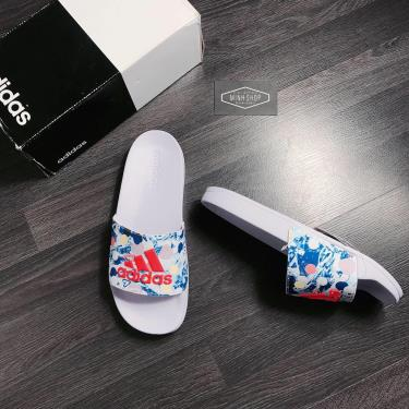 Hàng Chính Hãng Dép Adidas Adilette Shower Slide Light Purple/Blue/Orange 2020**