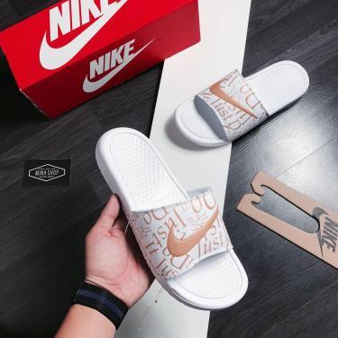 Hàng Chính Hãng Dép Nike Benassi JDI White/Gold 2020**