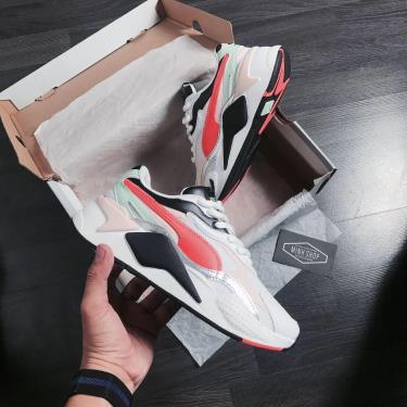 Hàng Chính Hãng Puma RS-X 3 SHINE White/Orange/Black 2020**