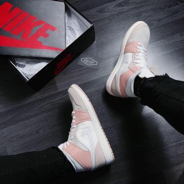 Hàng Chính Hãng Nike  Air Jordan 1 Mid Milan White Beige  2020* HOT V