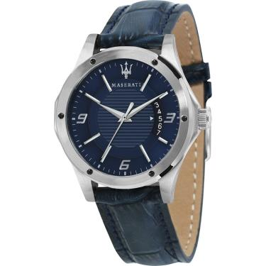 Đồng Hồ Maserati  Circuito Collection Blue Leather Watch **  [R8851127003]