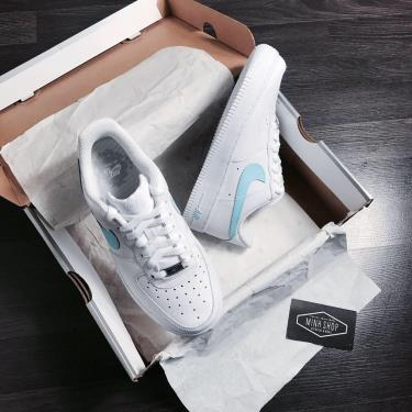 Hàng Chính Hãng Nike Air Force 1 White/Baby Blue CUST 2021**