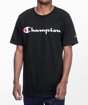 Hàng Chính Hãng Áo Thun Champion Printed Script Logo Black  2020**