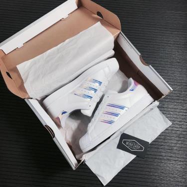 Hàng Chính Hãng Adidas Super Star White Iridescent 2021**