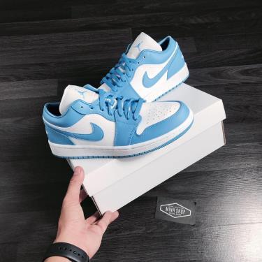 Hàng Chính Hãng Nike Air Jordan 1 Low UNC University Blue White 2020**