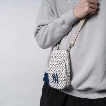 Túi MLB Monogram Mini Cross Bag New York Yankees  White  [32BGDK111 50I]