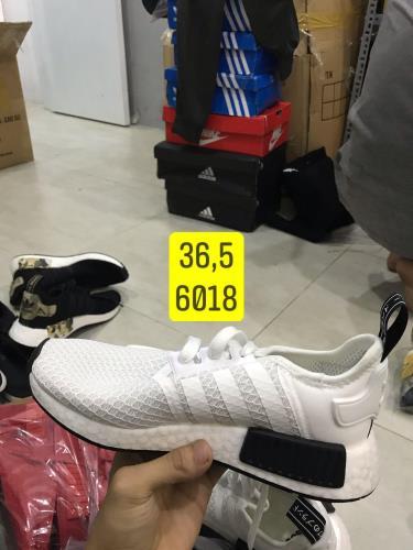Hàng Chính Hãng Adidas NMD R1 White/Black 2019**