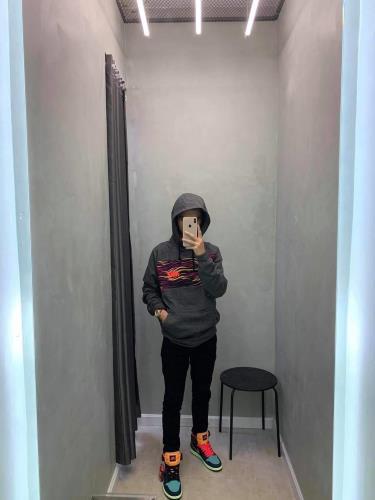 Hàng Chính Hãng Áo Hoodie Nike Grey/Mutil 2020**