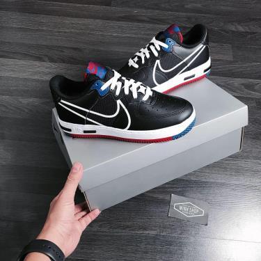 Hàng Chính Hãng Nike Air Force 1 React Black/Gym Red/Blue 2020** V