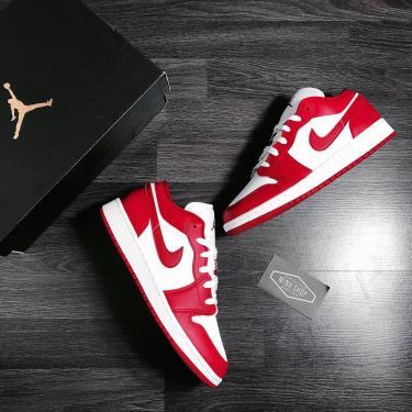 Hàng Chính Hãng  Nike Jordan 1 Low Gym Red White GS  2020**