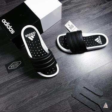 Hàng Chính Hãng Dép Adidas Adilette Boost Black White 2020**
