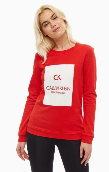 Hàng Chính Hãng Áo Sweatshirt Calvin Klein Performance Red 2020**