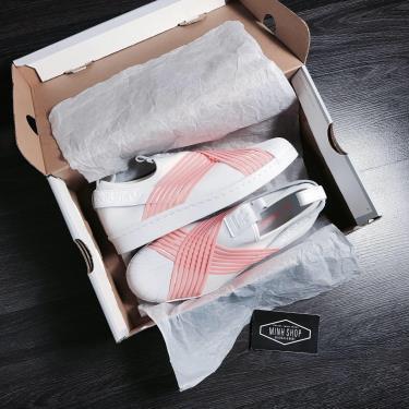 ''FLASH DEAL 70% '' Hàng Chính Hãng Adidas Superstar Slip On White/Orange **2020**