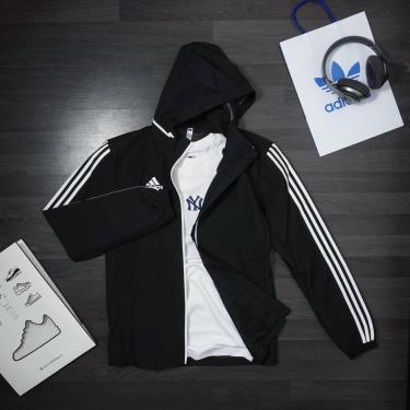 Hàng Chính Hãng Áo Khoác Adidas Black Full stripe **2020**