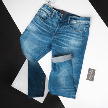 Hàng Chính Hãng Quần Jeans G-Star Raw  3301 Slim Worn In Azure  2021**