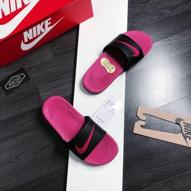 Hàng Chính Hãng Nike Kawa Slide Pink/Black 2020**