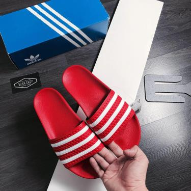 Hàng Chính Hãng Dép Adidas Adilette Red/white 2021**