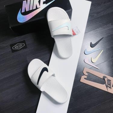 Hàng Chính Hãng Dép Nike Benassi JDI Swoosh Pack Sail  2020**