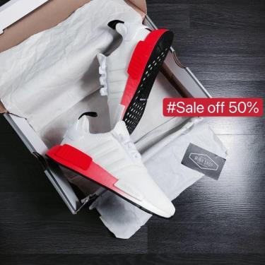 65% SALE  Hàng Chính Hãng Adidas NMD R1 Cloud White Solar Red 2020**