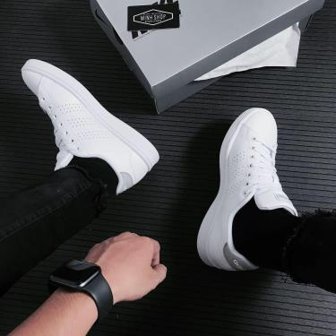 👉New Arrivals👈 -500 TODAY Hàng Chính Hãng Adidas Advantage White/Grey 2021** FV8491