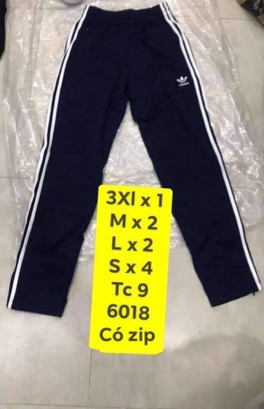 Hàng Chính Hãng Quần  Adidas Trackpants   Zip Black 2019**