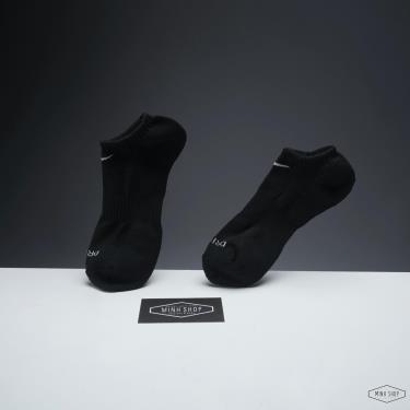 Hàng Chính Hãng Vớ Nike Dri-Fit No Show Black 2021** Pack 3 đôi